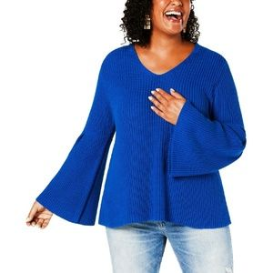 Style & Co Plus Size Knit V-Neck Pullover Sweater